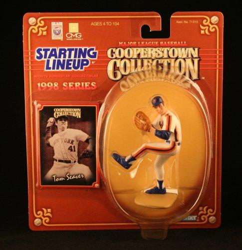 1 X TOM SEAVER /NEW YORK METS Figura de acción de la línea inicial y colección exclusiva de MLB Cooperstown Collection