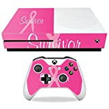 MightySkins Skin For Microsoft Xbox One S - Survivor | Protective, Durable, and Unique Vinyl Decal wrap cover | Easy To Apply, Remove, and Change Styles | Made in the USA