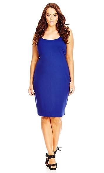 Designer Plus Size Dress Body Con Col Cobalt 16 S City Chic
