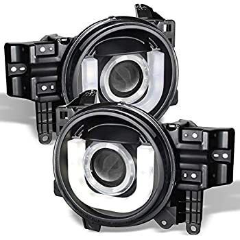 Amazon Com Pair Black Housing Clear Side Led Drl