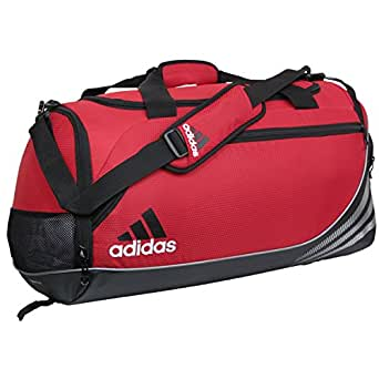 Amazon.com: Adidas Medium Team Speed Duffel Gym Bag-Red ...