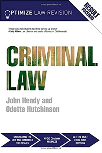 Optimize Criminal Law: Amazon co uk: John Hendy, Odette