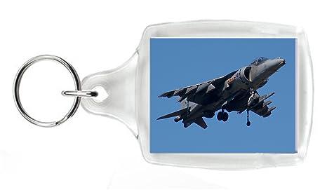 RAF HAWKER HARRIER JUMP JET llavero con aeronaves - un ...