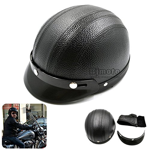 BJ Global Motorcycle Half Open Face Helmet Motorbike Crash Protection Safety Protect Helmet