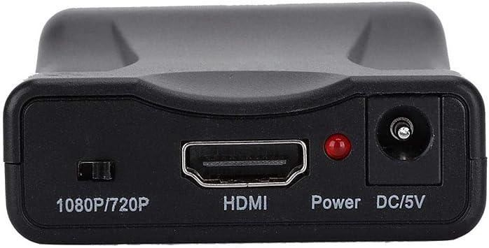 Ciglow SCART a HDMI Convertidor para Sky Box, DVD, STB, Support PAL, NTSC3.58. NTSC4.43, SECAM, PAL/M, PAL/N Entrada de Formato de TV estándar.: Amazon.es: Electrónica