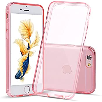 "iPhone 6s Case, Shamo's Thin Case Cover 4.7"" TPU Rubber Gel, Transparent Clear Back Case for Iphone 6, Soft Silicone, Pink Shamo's [Compatible with iPhone 6 and iPhone 6s] (Pink)"