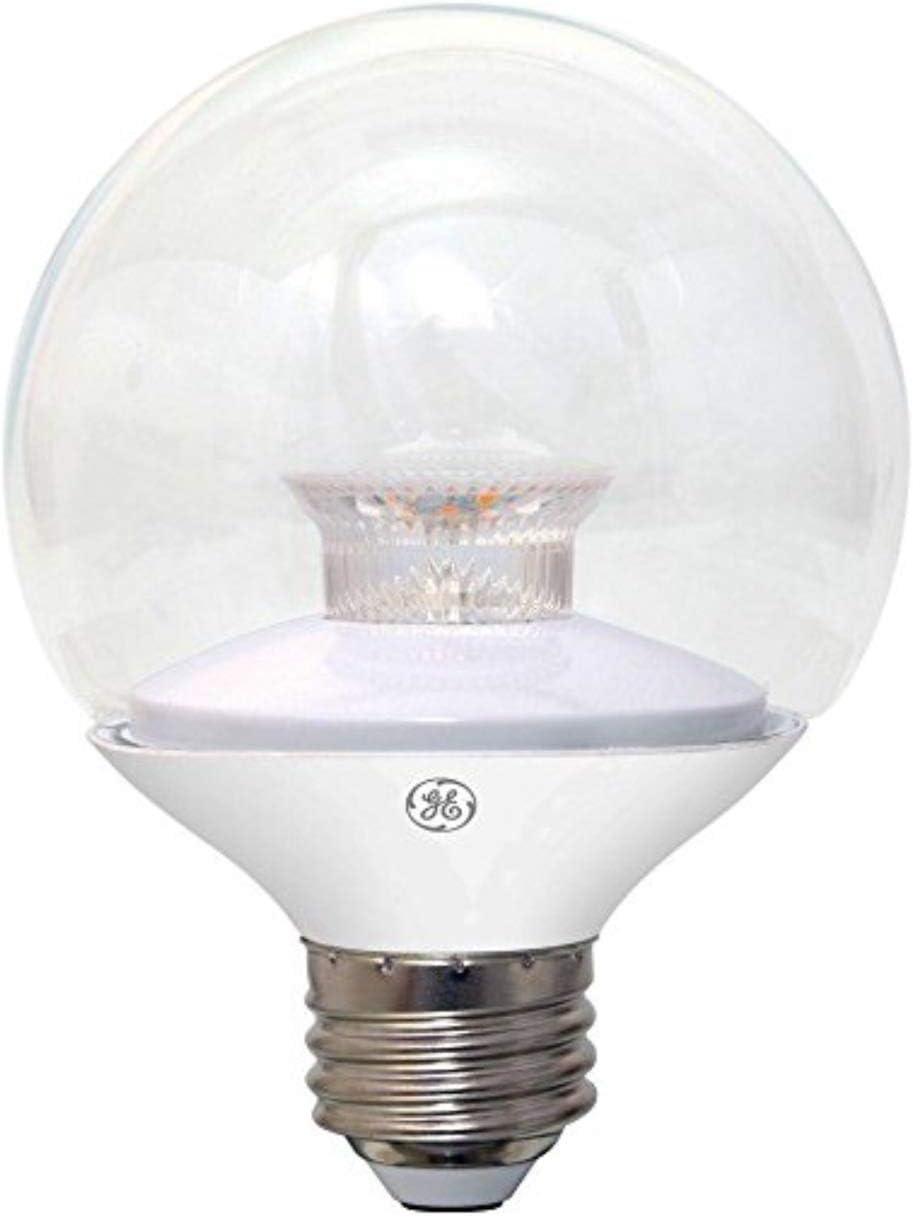 GE Lighting 37270 6.5 Watt E26 G25 Clear Soft White LED Dimmable Light Bulb