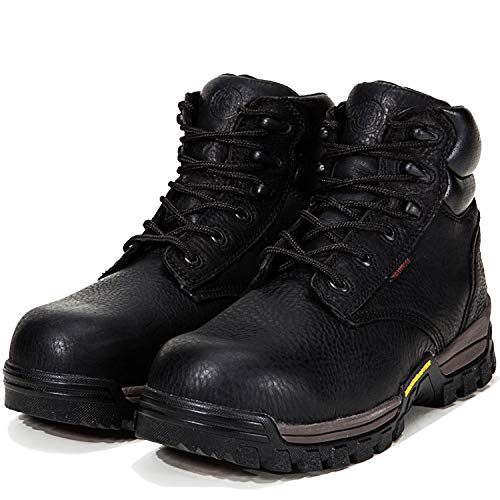 (ROCKROOSTER Work Boots for Men, Composite Toe,Waterproof, Kevlar Puncture, Safety Shoes,Ventilated, Perfect Breathable, EEE-Wide (AT697Pro Black 13 AM))