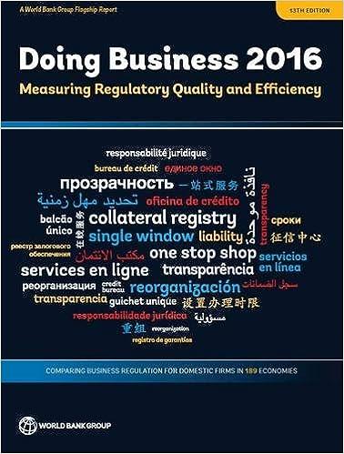 amazon doing business 2016 measuring regulatory quality and