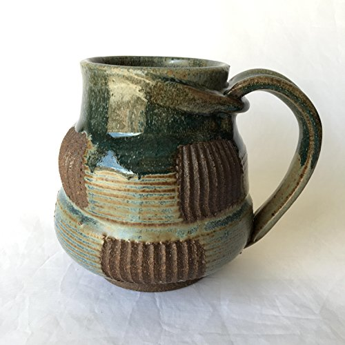 Unique Textured Coffee Mug, Ceramic Coffee Mug, Wheel Thrown Mug UQTJUL17M9 19 OZ