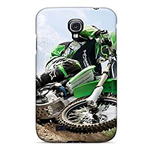 Galaxy Cover Case - Kawasaki Motocross Protective Case Compatibel With Galaxy S4