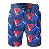 Oct USA Wrestling Logo Long Mens Boardshorts Swim Trunks Tropical Athletic Board Shorts Surf Trunks