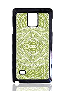 Light Green Vintage Damask Retro Pattern Custom Hard Plastic back Phones Case for Samsung Galaxy Note4 - Galaxy Note 4 Case Cover