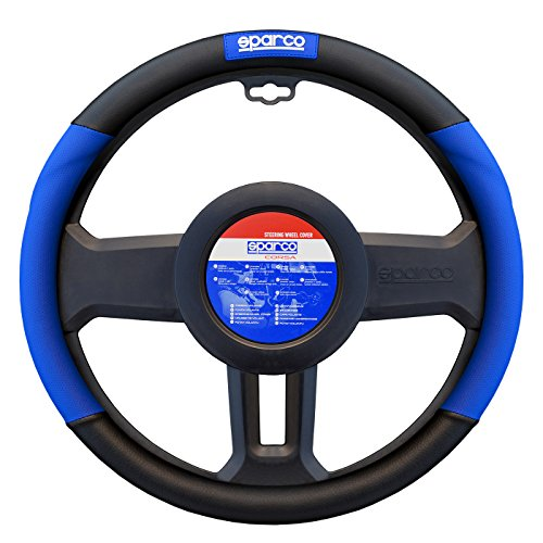 sparco-steering-wheel-cover-durable-stretch-material-compatible-grip-blue