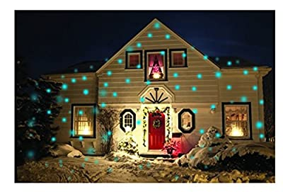 Light Flurries COLOR LED Snowflake Projector w/ Colored Spotlight - Outdoor Animated Holiday Projector