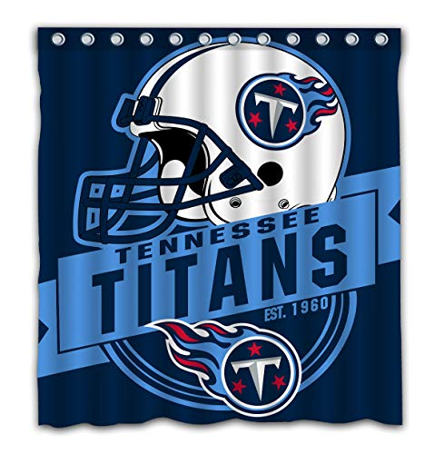 Felikey Custom Tennessee Titans Waterproof Shower Curtain Colorful Bathroom Decor Size 66x72 Inches
