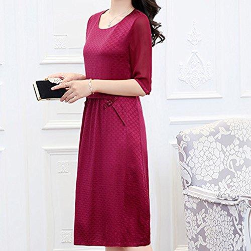 Cóctel Para Mujer Rojo Sin Dissa Mangas Vestido PwXq75nxH