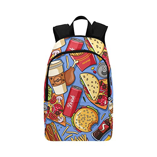 American Fast Food Custom Casual Backpack School Bag Travel Daypack]()
