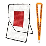 Champion Sports Deluxe 3-Way Return Throw Black/Red Bundle with 1 Performall Lanyard PT5535-1P