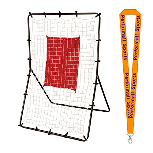 Champion Sports Deluxe 3-Way Return Throw Black/Red Bundle with 1 Performall Lanyard PT5535-1P by Champion Sports
