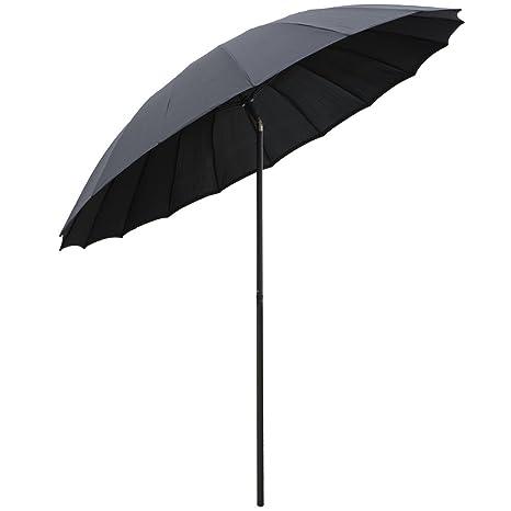 Sombrilla de 2,5m reclinable, parasol, paraguas para ...