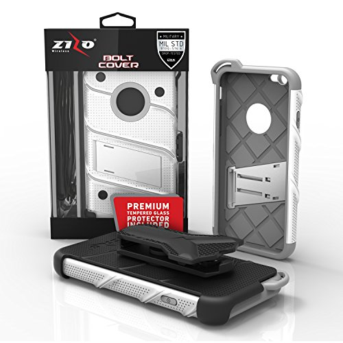 iPhone 6s Case, Zizo [Bolt Series] w/ FREE [iPhone 6s Screen Protector] Kickstand [12 ft. Military Grade Drop Tested] Holster Belt Clip- iPhone 6 / 6s