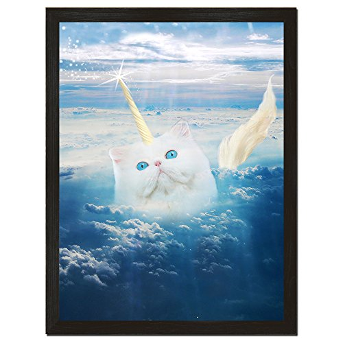 Caticorn Funny Cat Poster Unicorn Art Cat Lady Gifts Whimsical Decor