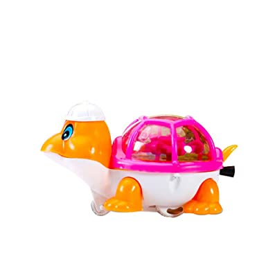 Kanzd Baby Bath Toy, Swimming Turtle, Floating Wind-up Bathtub Pool Clockwork Toys Cute Water Play for Kids Boys Girls (A): Clothing