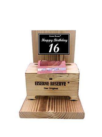 Happy Birthday 16 Geburtstag Eiserne Reserve Geldbox Geldgeschenk Schatztruhe Geld Verschenken 16 Geburtstag Geschenk Idee Für Männer Frauen Geschenke Zum 16 Geburtstag Amazon De Lebensmittel Getränke