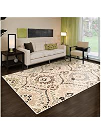 superior designer augusta collection area rug 8mm pile height with jute backing beautiful floral