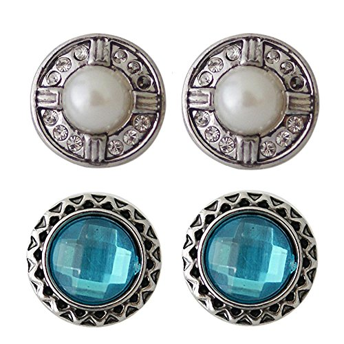 Engagement Bead Ring Dangle (Chunk Snap Charm Mini Petite Snaps 12mm (1/2