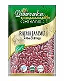 Dwaraka Organic Himalaya Jammu Red Kidney Bean Rajma - USDA Organic (4 lbs / 1.81 kg)