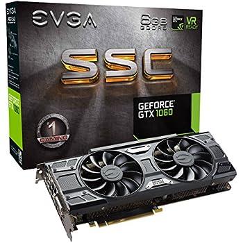 EVGA GeForce GTX 1060 6GB SSC GAMING ACX 3.0, 6GB GDDR5, LED, DX12 OSD Support (PXOC) Graphics Card 06G-P4-6267-KR