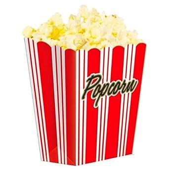 Amazon.com: Le GÃant de la Fête Hollywood Popcorn Boxes - Pack Of 8   Cardboard Popcorn Boxes ...