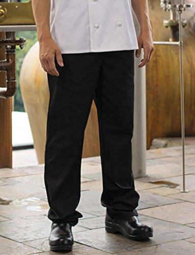 Uncommon Threads 4020 Adult's Executive Chef Pant Black Medium - Executive Chef Pants