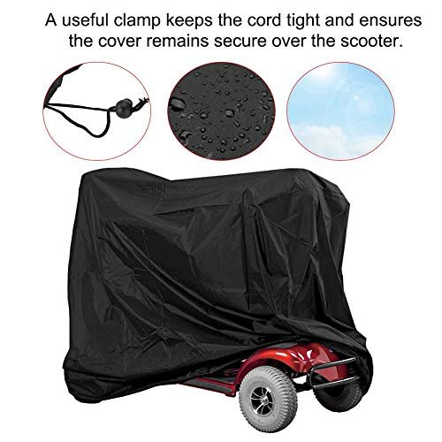Eldly Mobility Scooter Case, Professional Waterproof Eldly Mobility Scooter Storage Cover Wheelchair Waterproof Rain Sun Rays Protection Protector from Dust Dirt Snow