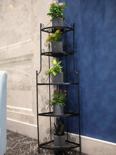 1. GO 5-Tier Steel Versatile Indoor/Outdoor Plant Shelf, 13