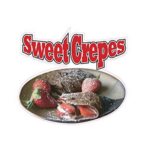Sweet Crepes Concession Restaurant Food Truck Die-Cut Vinyl Sticker 36 inches
