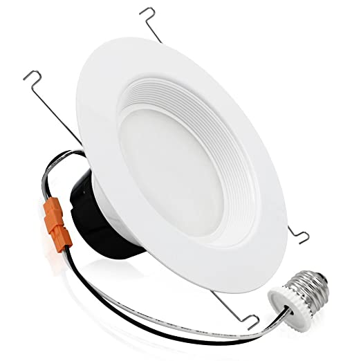 TORCHSTAR #Wet Location# 5/6 inch Dimmable Recessed LED Downlight, 17W (120W Equivalent), High CRI, ENERGY STAR, 5000K Daylight, 1200lm, LED Retrofit ...