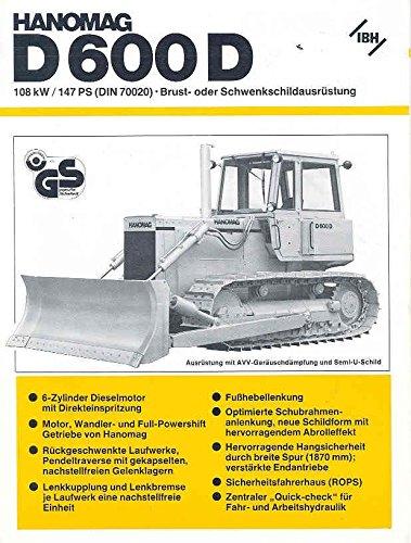 1981 Hanomag D600D Crawler Loader Dozer Truck Brochure