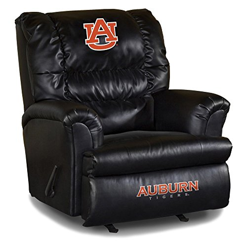 - Imperial Officially Licensed NCAA Furniture: Big Daddy Leather Rocker Recliner, Auburn Tigers