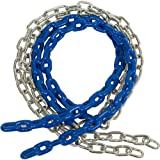 Swing Set Stuff 8 1/2 Ft. Coated Swing Chain (Pair) with SSS Logo Sticker (Blue)