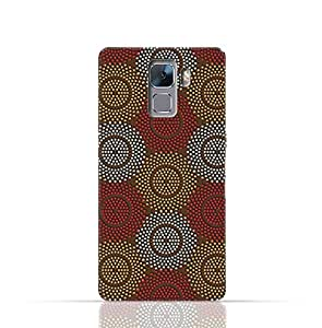 Huawei Honor 7 TPU Silicone Case With Polka Dot Ethnic Pattern Design.