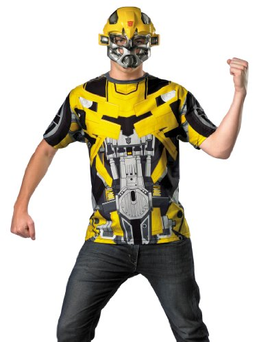 Transformers Costume Bumblebee Superhero Shirt and Mask Theatrical Mens Costume Sizes: XX-Large (Adult Book Character Costumes)