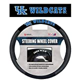 NCAA Kentucky Wildcats Poly-Suede Steering Wheel Cover Auto Accessories 15 x 15in