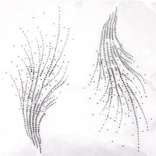 ransfer Hot Fix Motif Crystal Fashion Design Line Decoration 3 Sheets 10.410.2 Inch ()
