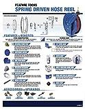 Coxreels P-LP-110 Low Pressure Spring Rewind Hose Reel: 1/4