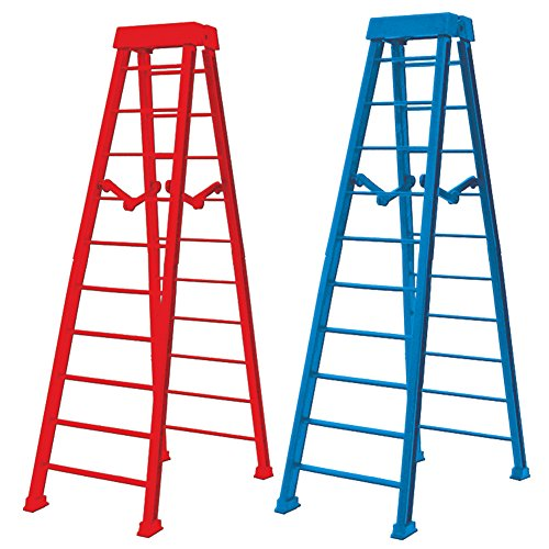Set of 2 Large 10 Inch Breakaway Ladders for WWE Wrestling Figures: Red & Blue by Figures Toy Company