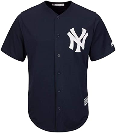 Majestic Athletic New York Yankees Cool Base MLB Replica Jersey Dark Navy Baseball Trikot tee T-Shirt: Amazon.es: Ropa y accesorios