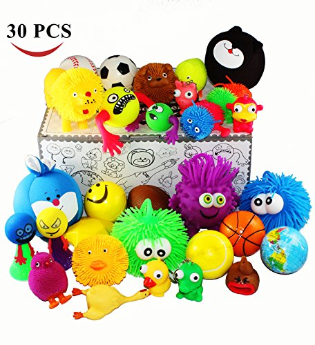 Jalousie 30 Pieces Stress Ball and Squeeze Toys Value Assortment-Stress Relax Toys (30 Pcs (Stress Toys)